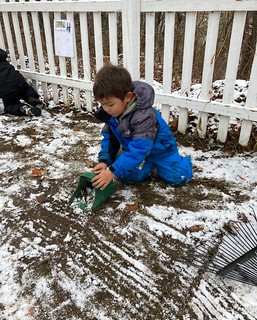 raking and scooping snow | by lyn.schmucker