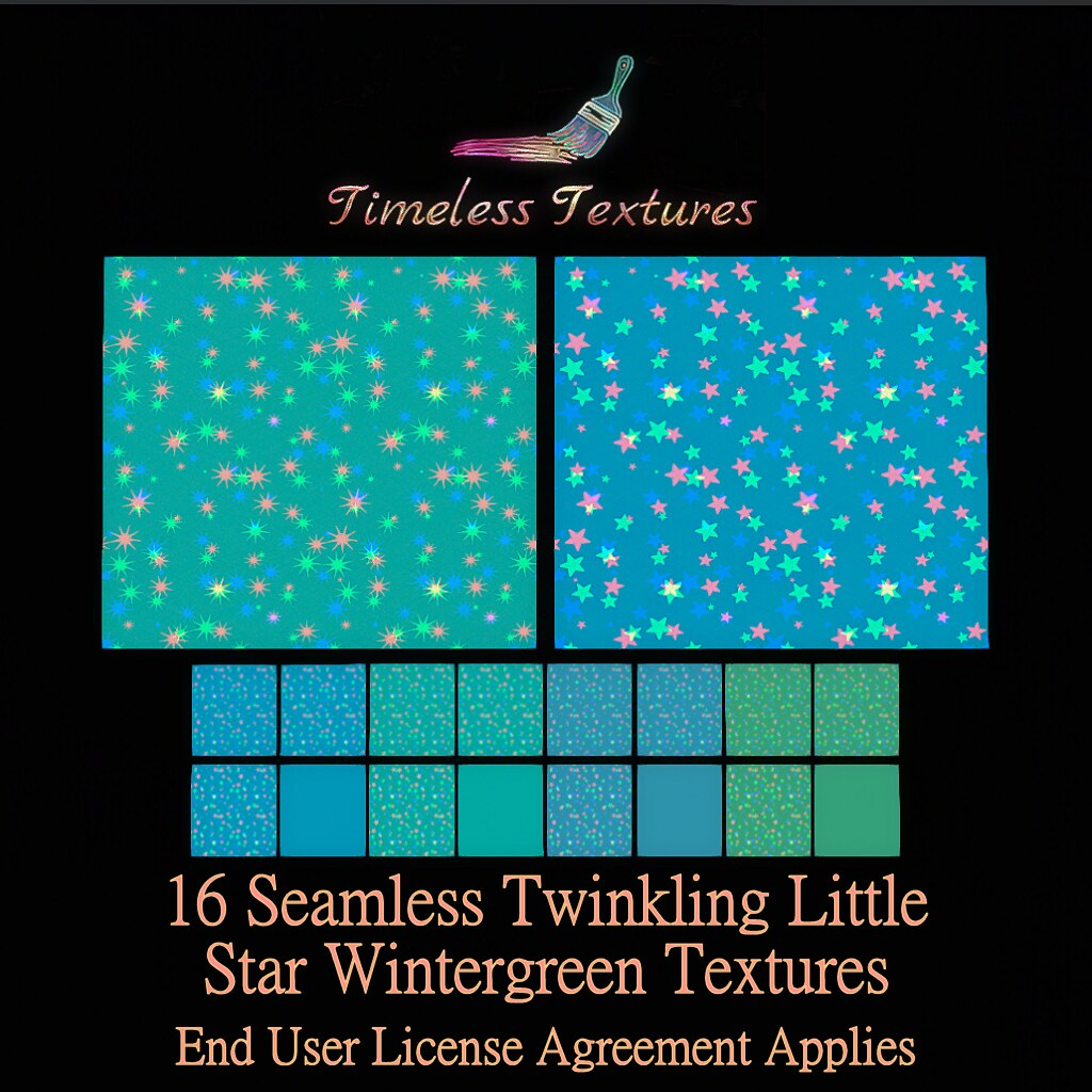 TT 16 Seamless Twinkling Little Star Wintergreen Timeless Textures