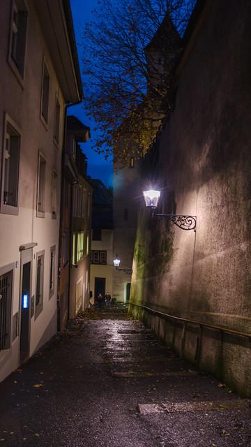 Les rues vallonnées de Bâle / Die hügeligen Strassen von Basel