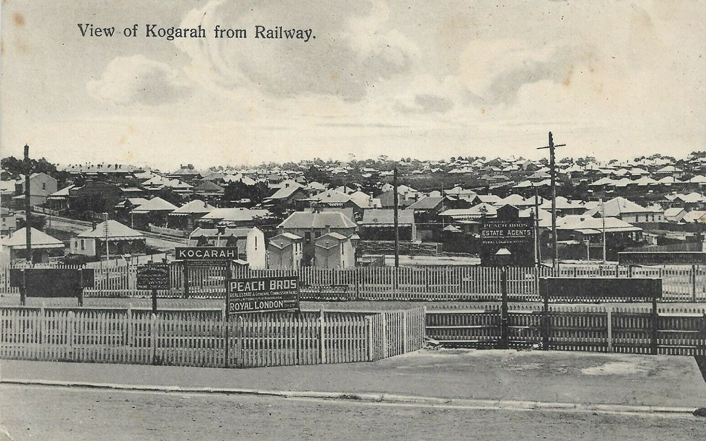 View of Kogarah, N.S.W. - from the railway station - early 1900s