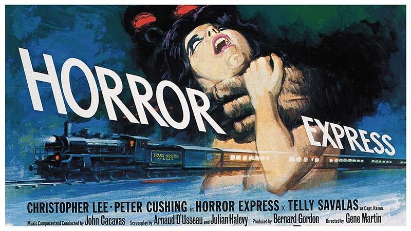 Affiche du film Terreur dans le Shanghai Express (Horror Express / Pánico en el Transiberiano, 1972) réalisé par Eugenio Martín