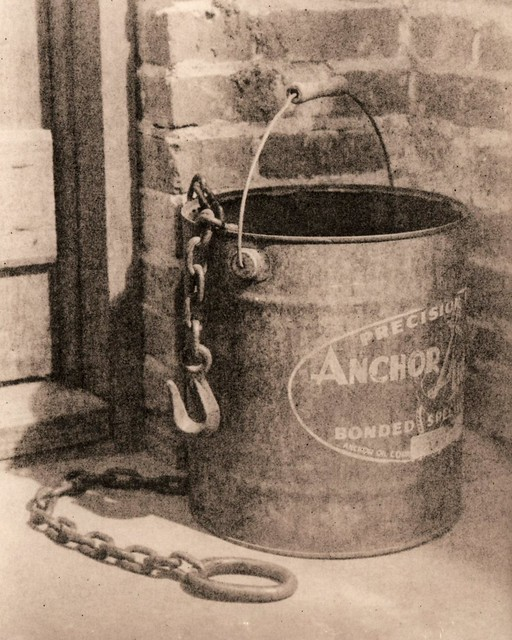 515 - Bucket and Chain - Lith Print