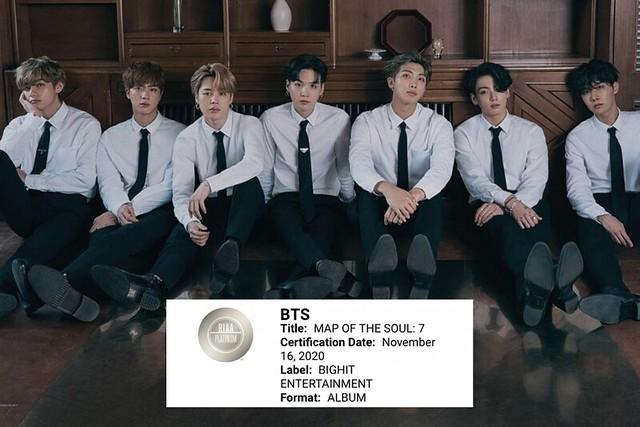 Kali Kedua Dapat Sijil Platinum Recording Industry Association of America, Bukti BTS Diterima Secara Global
