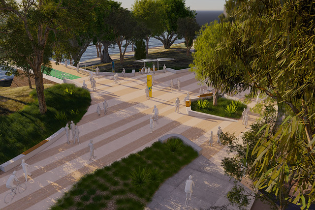 Artist Impressions of the Toowong to West End Green Bridge landing