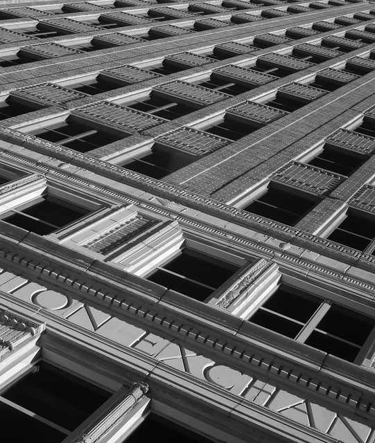 Anderson Clayton Building, former cotton exchange, Houston (infrared)
