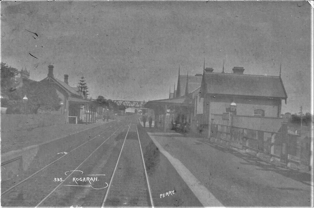 Railway station at Kogarah, N.S.W. - early 1900s