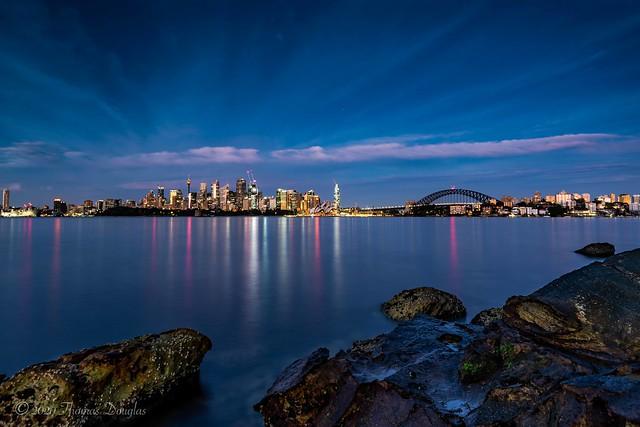 Sunrise Blue Light from Sydney Harbour
