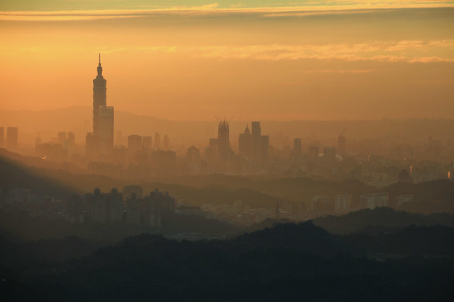An Autumn Sunset in Taipei