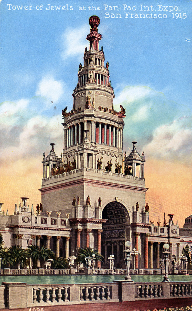 Tower of Jewels at the Panama Pacific International Exposition San Francisco CA