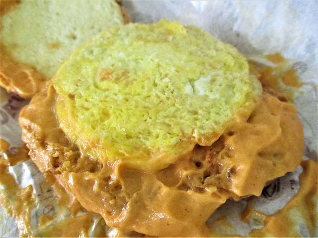 Zen Don Bin burger, omelette