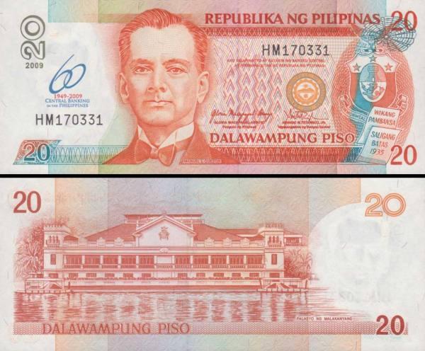 20 Piso Filipíny 2009 P200 pamätná
