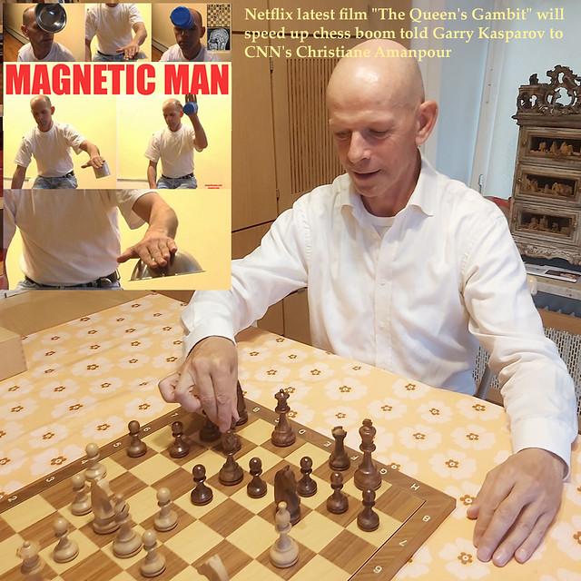 Netflix latest hit film The Queen's Gambit will speed up chess boom told Grandmaster Garry Kasparov to CNN Christiane Amanpour