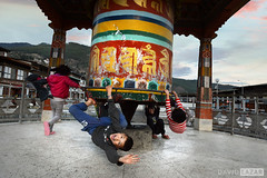 Playing on Prayer Wheel by David_Lazar