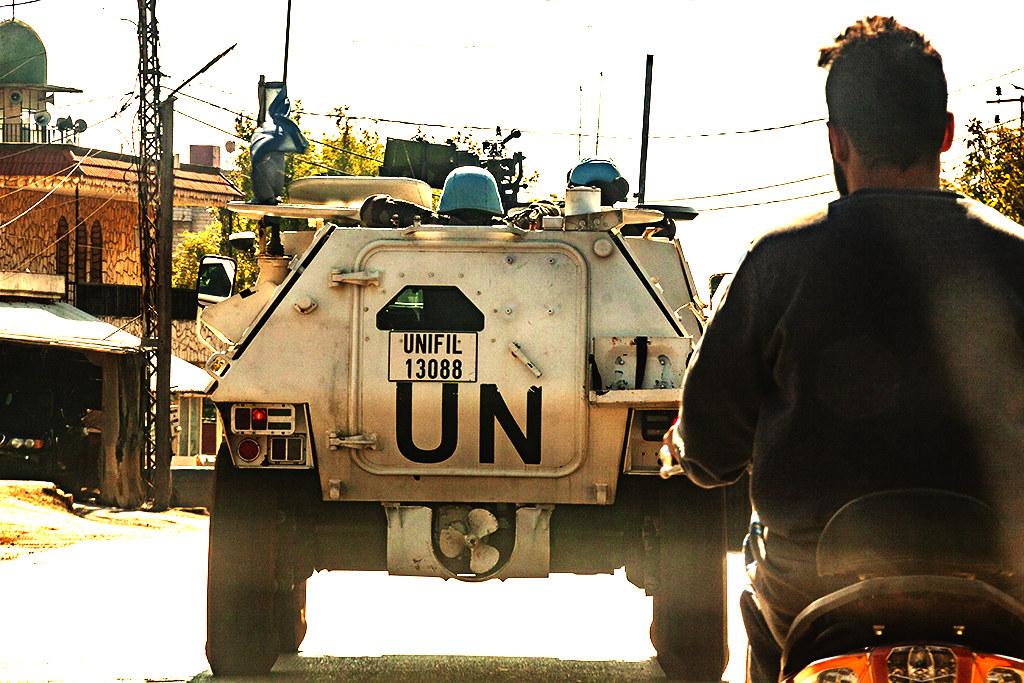 UN armored vehicle on 11-19-20--Kfarkela