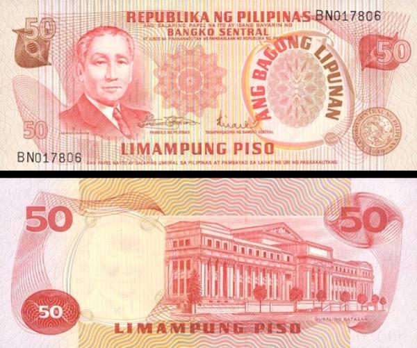 50 Piso Filipíny 1974, P156a