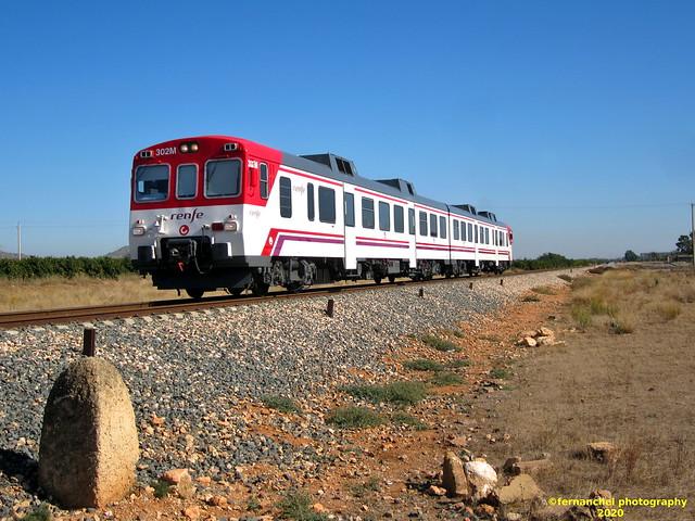 Tren de Cercanías de Renfe (línea C-3) a su paso por LORIGUILLA (Valencia)