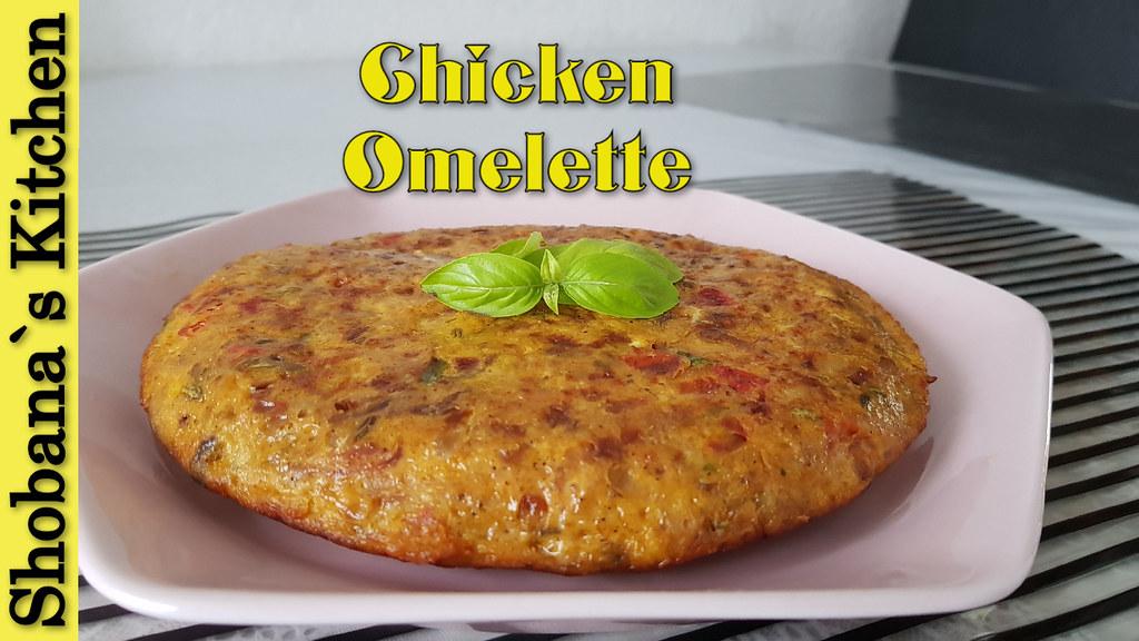 Spicy Chicken Omelette Recipe By Shobana`s Kitchen