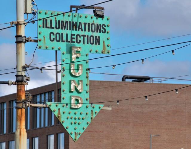 Blackpool illuminations collection point