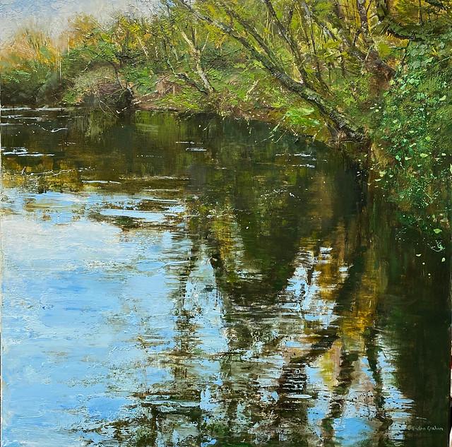 Afon Teifi - Oil on canvas 76 x 76 cm - available
