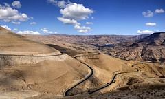 Kings Road through Mujeb Valley - Jordan.
