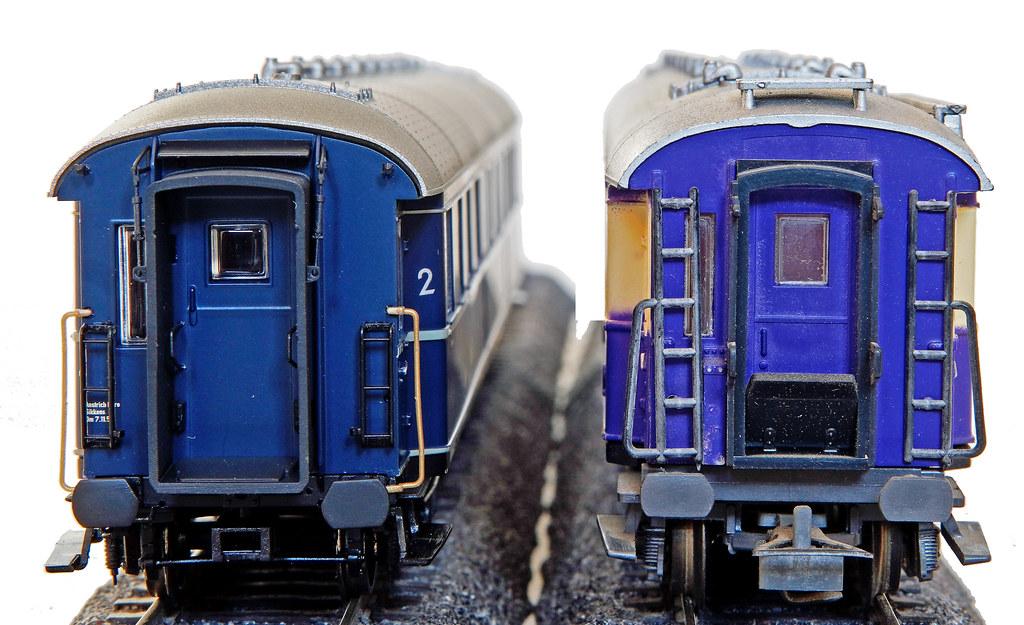 BRAWA 46412 und Liliput Rheingold Wagenkopf