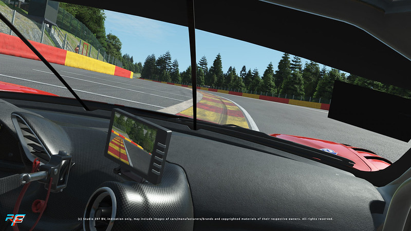 Spa Francorchamps entree of the Kemmel Straight
