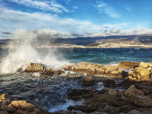 wind waves sky sea rocks landscape xiaomi phone weather