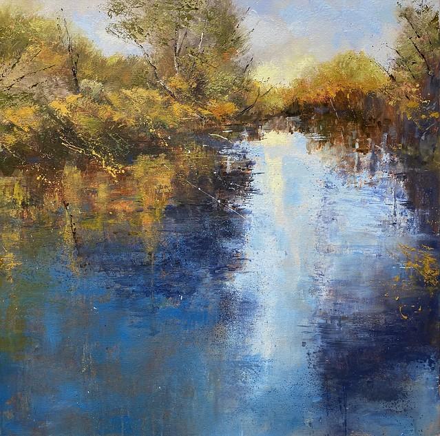 Autumn Walk II - oil on canvas - 79 x 79 cm - available