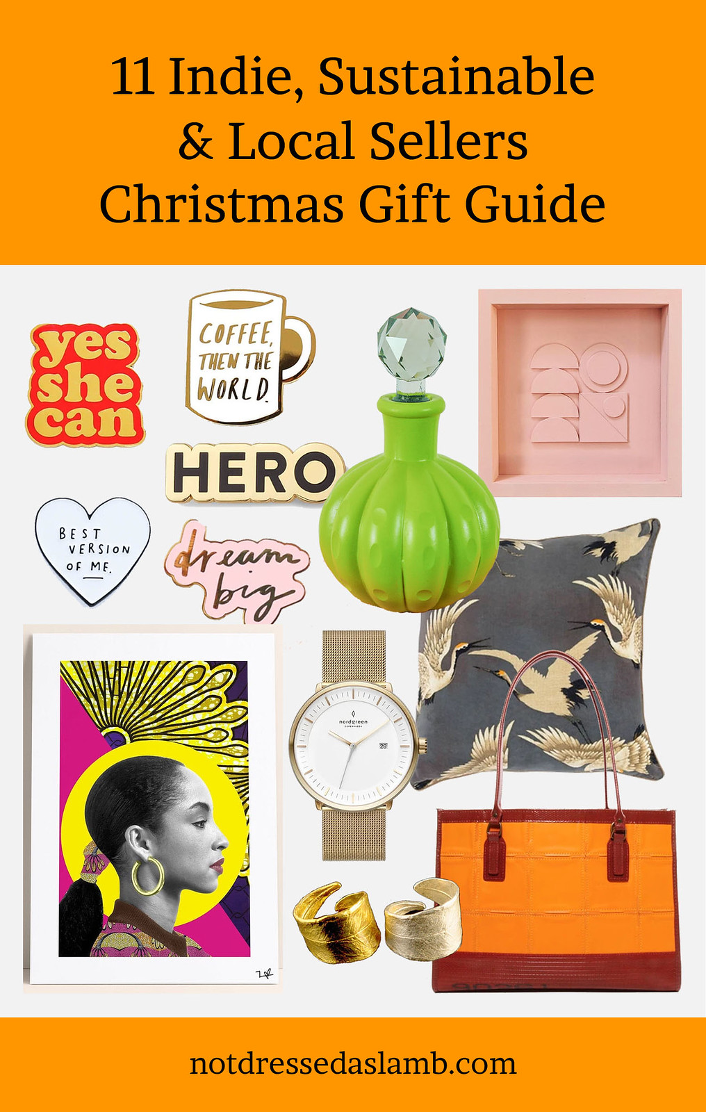 Alternative Christmas and Black Friday Gift Guide: 11 Indie, Sustainable and Local Sellers Curated by Not Dressed As Lamb