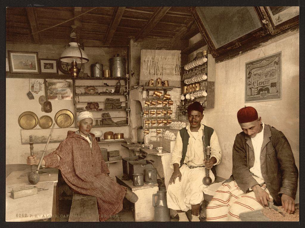[Moorish coffee house, Algiers, Algeria] (LOC)