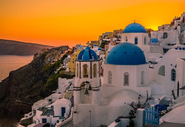 Beautiful Oia at sunset