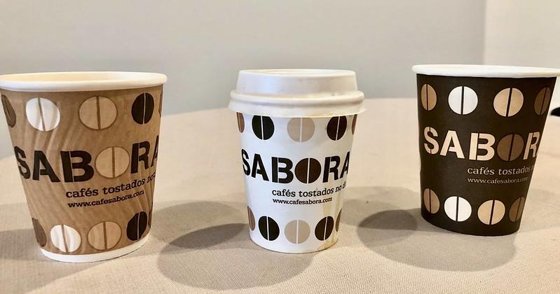 Vasos de café Take Away tres tipos .