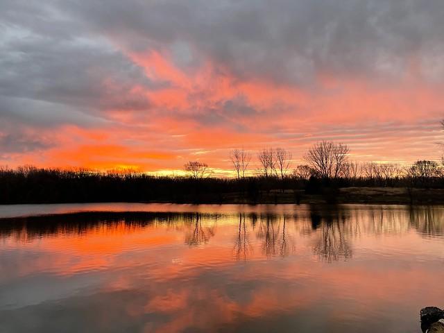 Sunrise reflections.