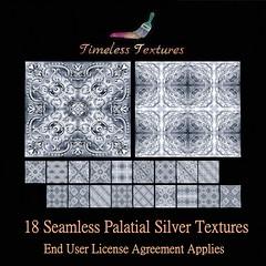 TT 18 Seamless Palatial Silver Timeless Textures