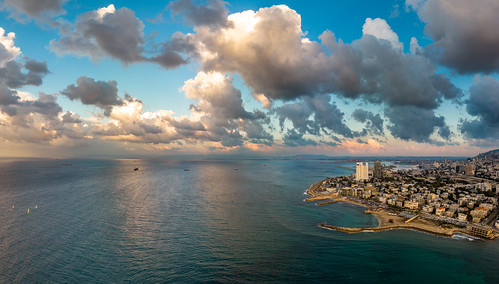 israel haifa haifadistrict sunset sea panorama clouds air mavic בתגלים batgalim dji