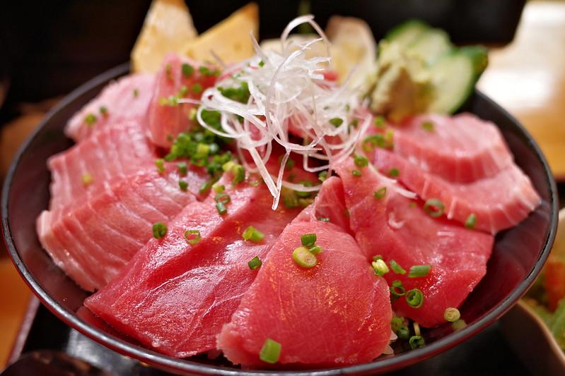 fatty tuna rice bowl