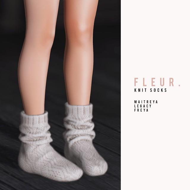 fleur. knit socks   shiny shabby