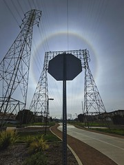 Halo over the bike path