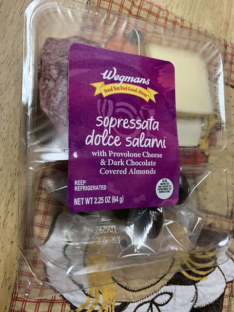 Wegmans Food You Feel Good About Sopressata Dolce Salami with Provolone Cheese & Dark Chocolate Covered Almonds