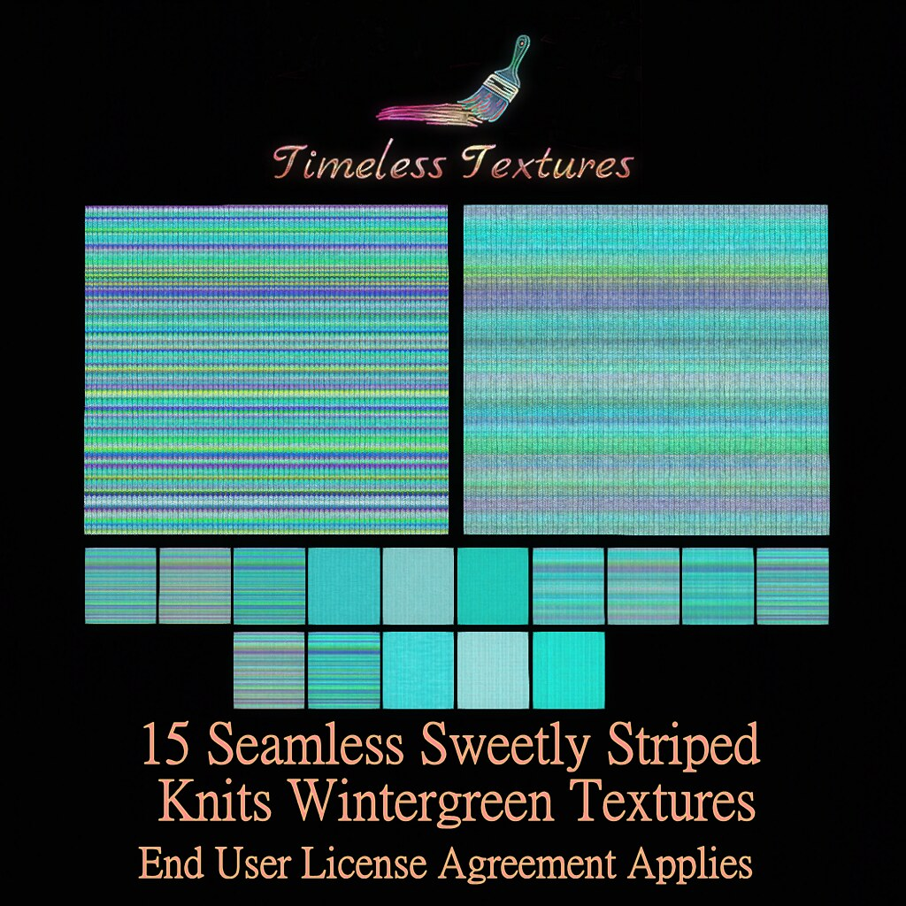 TT 15 Seamless Sweetly Striped Knits Wintergreen Timeless Textures ++