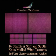 TT 16 Seamless Soft and Subtle Knits Mulled Wine Timeless Textures