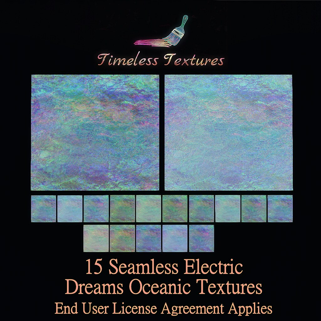 TT 15 Seamless Electric Dreams Oceanic Timeless Textures