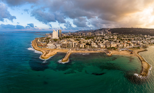 panorama israel haifa mavic dji haifadistrict sunset sea clouds air בתגלים batgalim