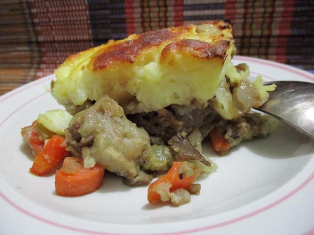 Melissa's shepherd pie, slice
