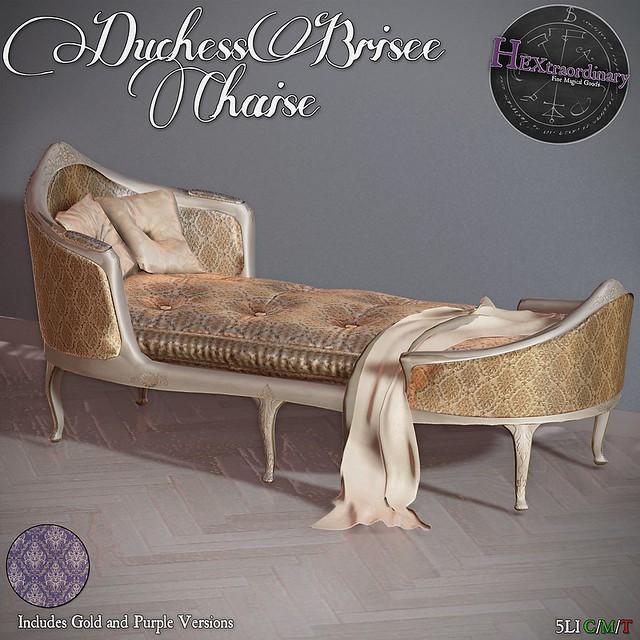 HEXtraordinary – Duchess Brisee Chaise – FLF
