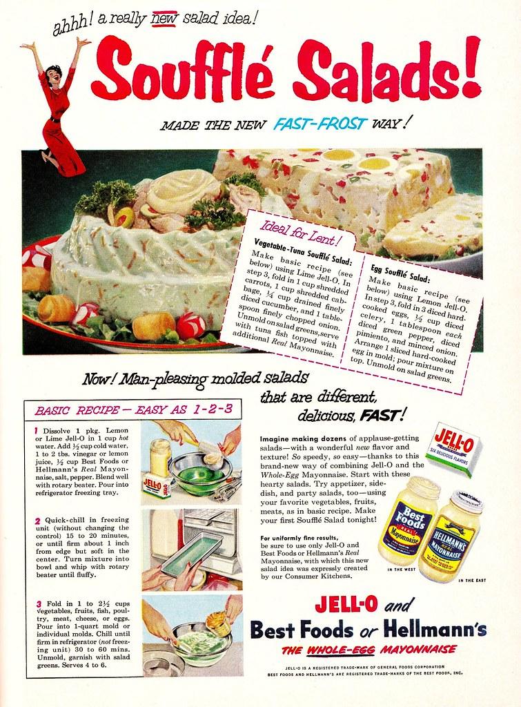 Jell-O, Best Foods, Hellmanns 1953