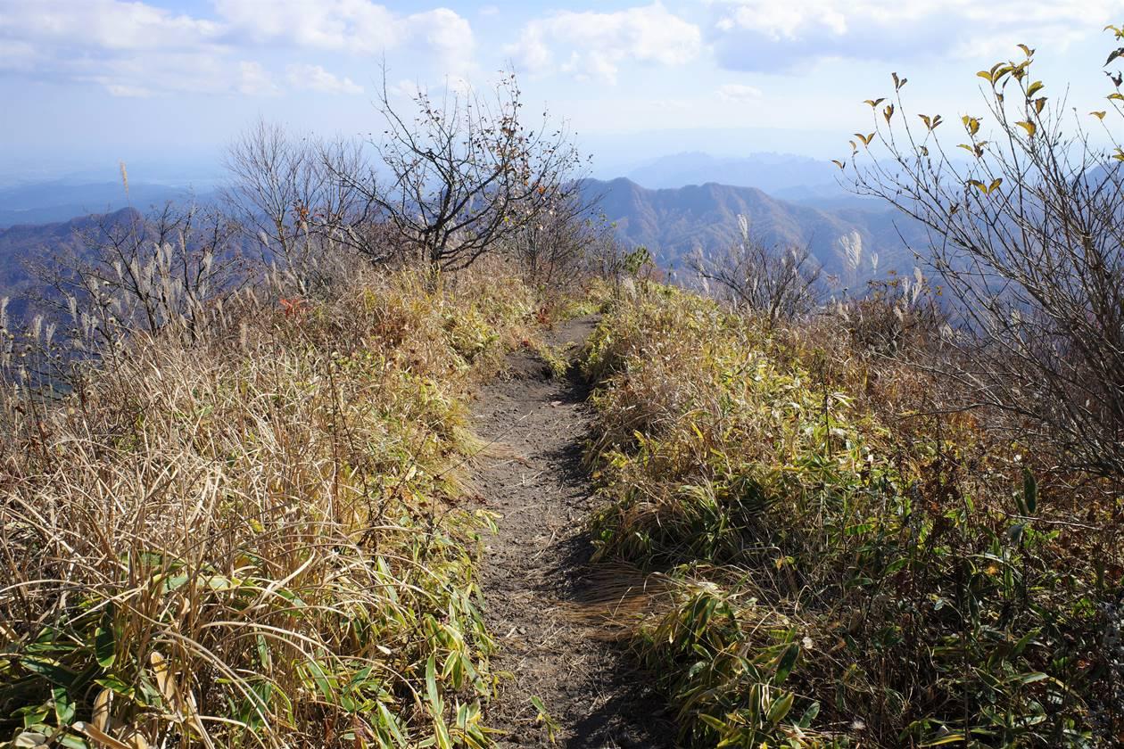 浅間隠山から下山