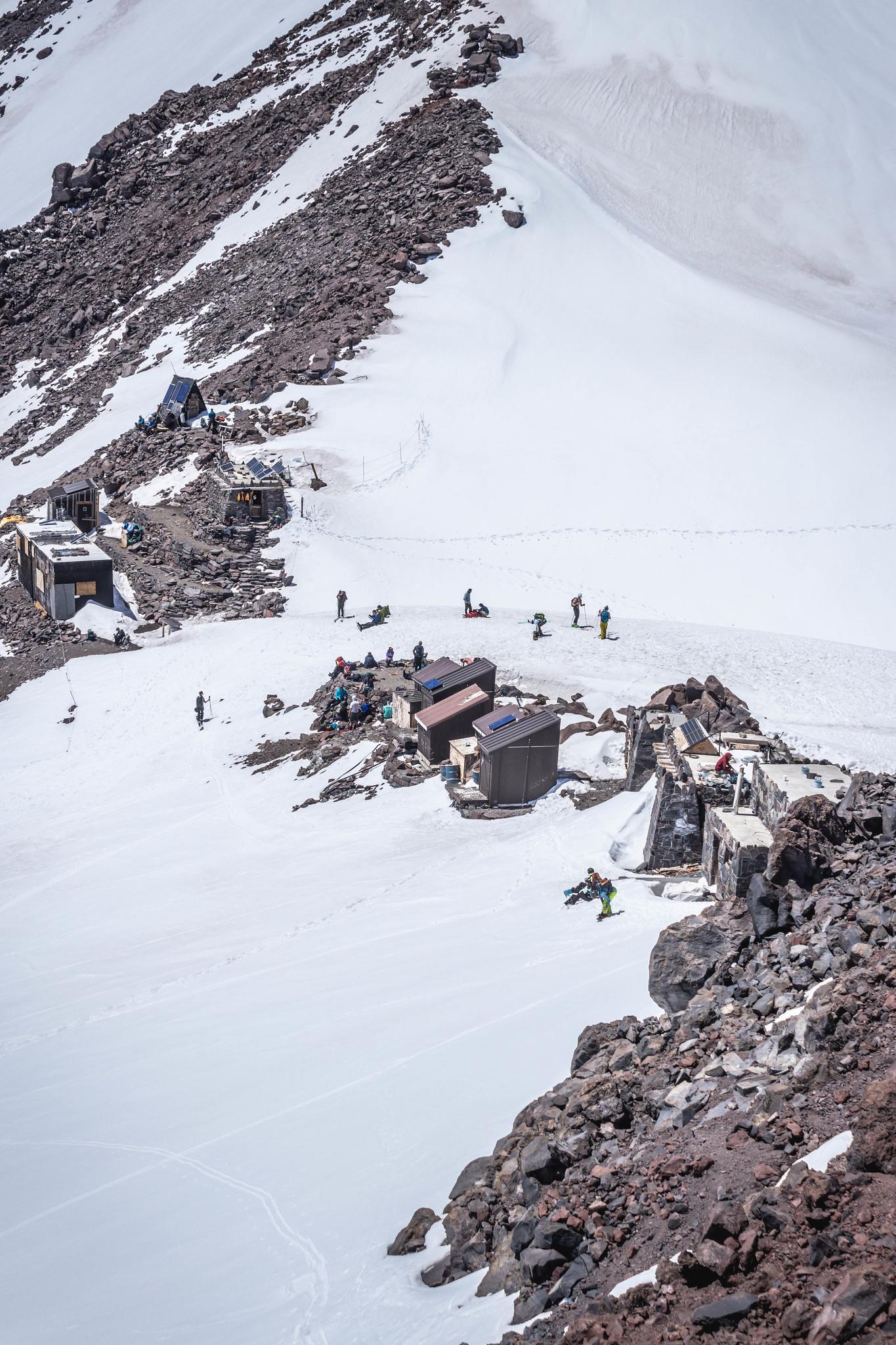 Camp Muir below Muir Peak