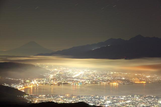 City lights at midnight