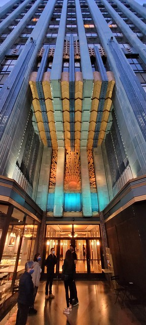 The Eastern Columbia building in downtown Los Angeles.  The Art Deco building opened in 1930.
